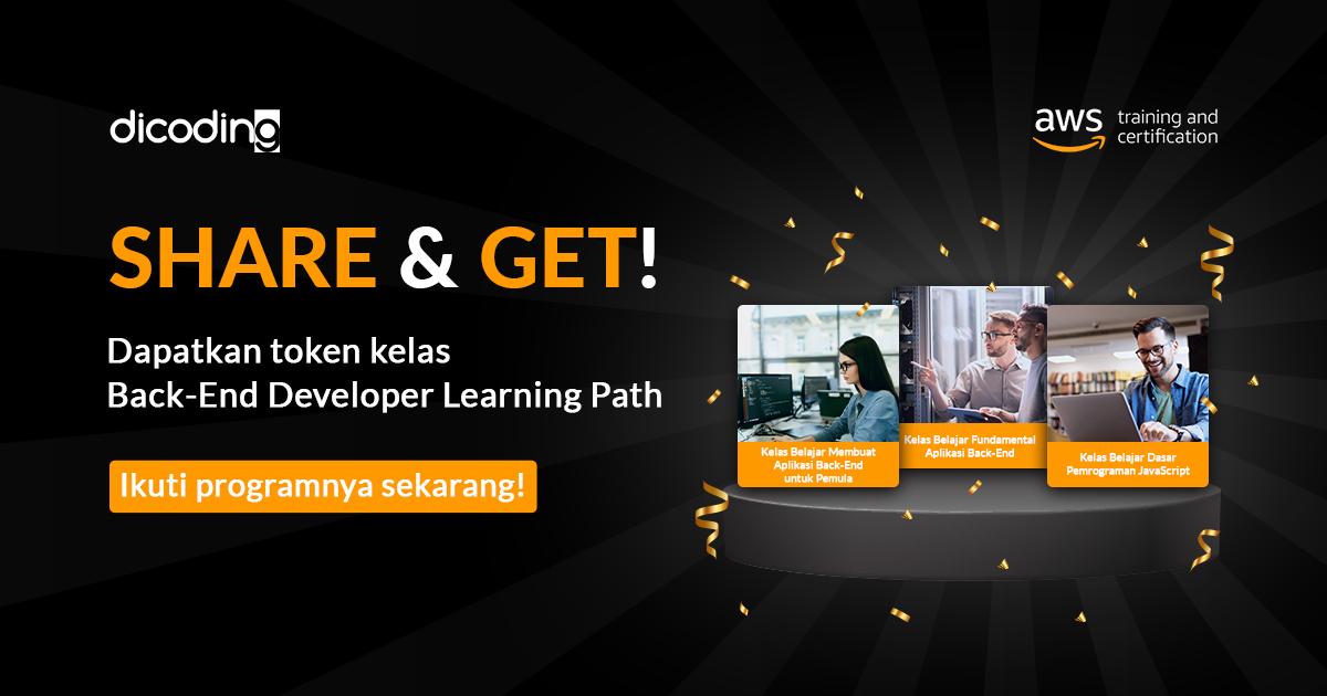 Dapatkan Akses GRATIS ke Kelas Back-End Developer Learning Path
