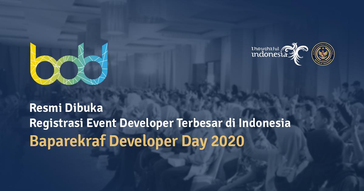 Dicoding Menjadi Mitra Baparekraf Developer Day 2020