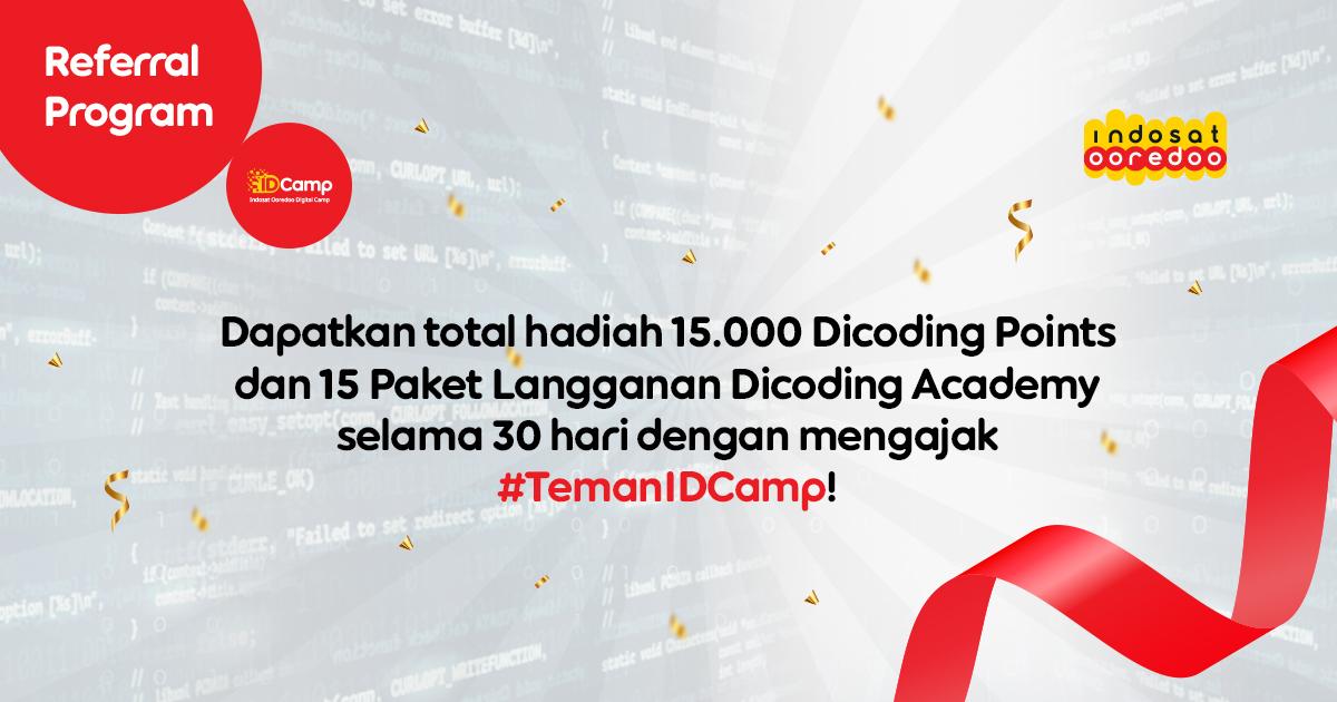 Indosat Ooredoo Digital Camp 2021 Referral Program